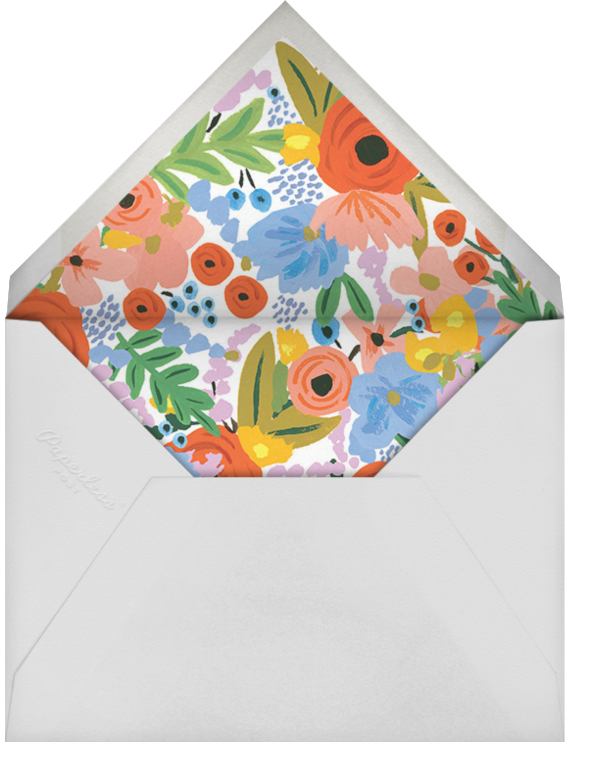 Mayday Bouquet - Rifle Paper Co. - Bridal shower - envelope back