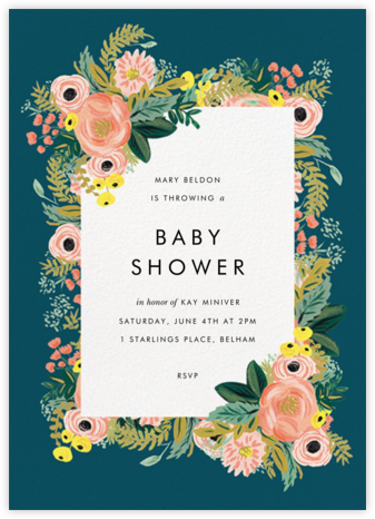 Baby shower invitations online at paperless post spring garden stopboris Images