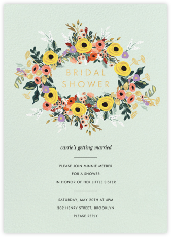 Buttercup Garland - Rifle Paper Co. - Bridal shower invitations