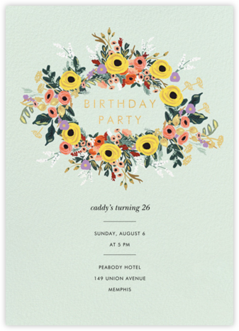 Buttercup Garland - Rifle Paper Co. - Adult Birthday Invitations