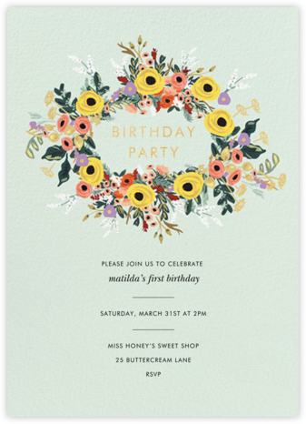 Buttercup Garland - Rifle Paper Co. - Online Kids' Birthday Invitations