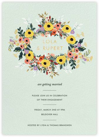Buttercup Garland - Rifle Paper Co. - Engagement party invitations