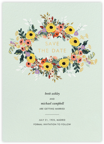 Buttercup Garland - Rifle Paper Co. - Save the dates