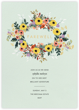 Buttercup Garland - Rifle Paper Co. - Farewell party invitations