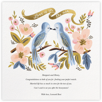Love is Lighter than Air - Rifle Paper Co. - Wedding congratulations