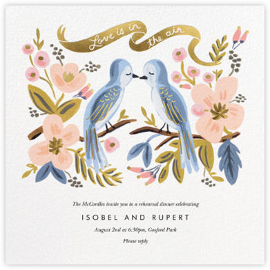 Love is Lighter than Air - Rifle Paper Co. - Wedding Weekend Invitations