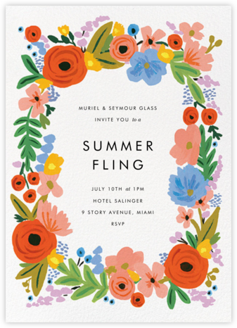 Mayday Bouquet - Rifle Paper Co. - Summer entertaining invitations