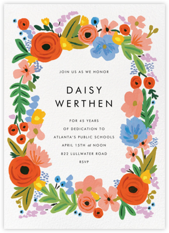 Mayday Bouquet - Rifle Paper Co. - Farewell party invitations