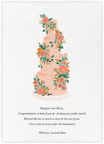 Princess Cake - Rifle Paper Co. - Wedding congratulations