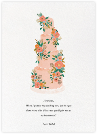 Princess Cake - Rifle Paper Co. - Will You Be My Bridesmaid Cards