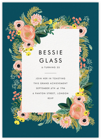 Spring Garden - Rifle Paper Co. - Adult Birthday Invitations