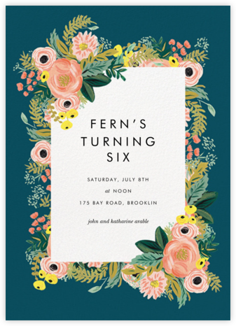 Spring Garden - Rifle Paper Co. - Birthday invitations
