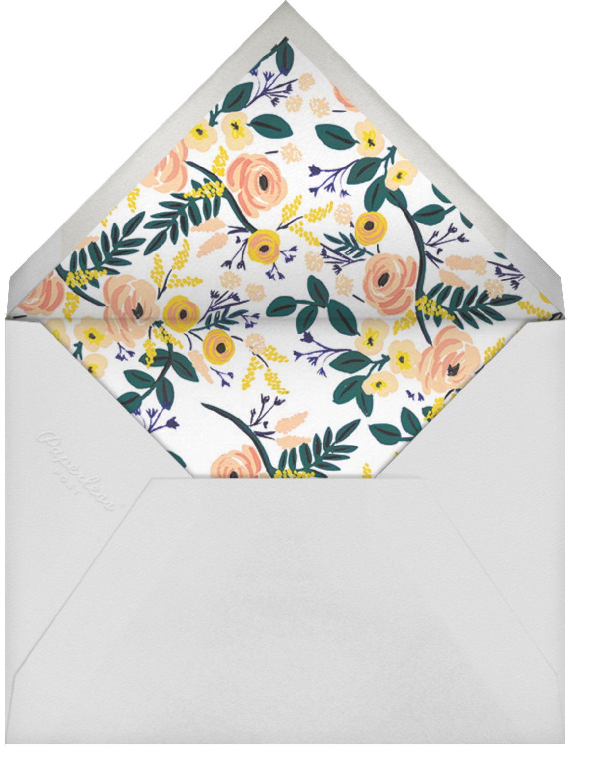 Spring Garden - Rifle Paper Co. - Engagement party - envelope back