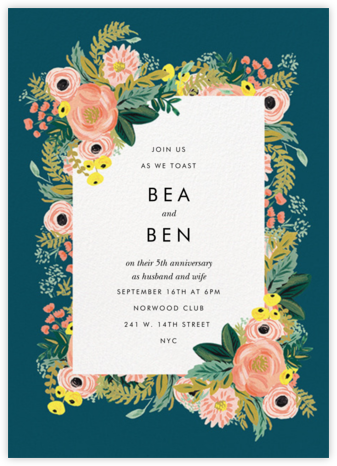 Spring Garden - Rifle Paper Co. - Anniversary party invitations