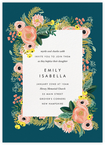 Spring Garden - Rifle Paper Co. - Baptism invitations