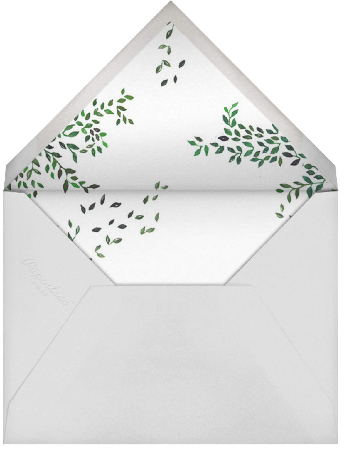 Birds on Bowers - Happy Menocal - Woodland baby shower invitations - envelope back