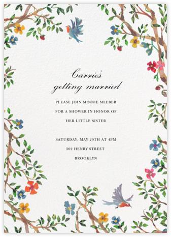 Birds on Bowers - Happy Menocal - Bridal shower invitations