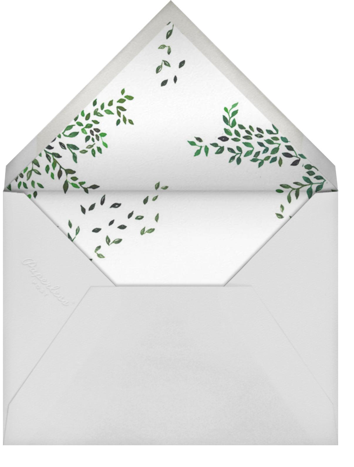 Birds on Bowers - Happy Menocal - Wedding brunch - envelope back