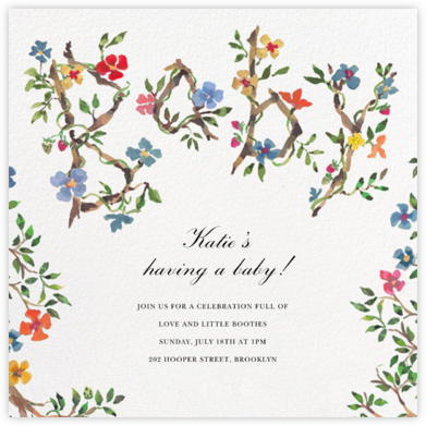 Baby Blossoms - Happy Menocal - Baby Shower Invitations