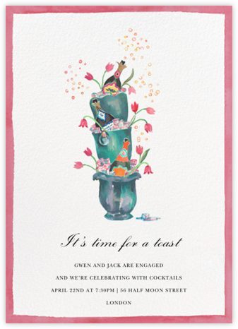 Buckets of Bubbles - Happy Menocal - Bridal shower invitations
