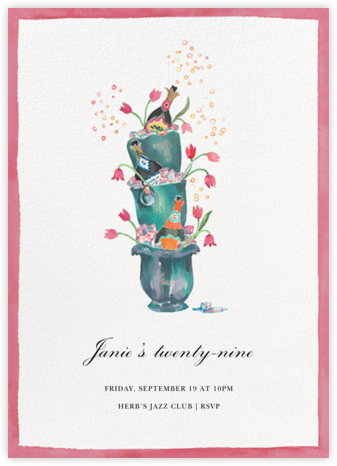 Buckets of Bubbles - Happy Menocal - Adult Birthday Invitations