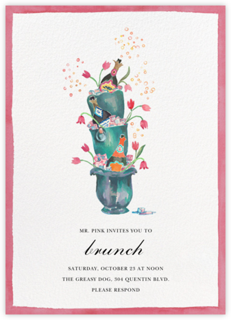 Buckets of Bubbles - Happy Menocal - Brunch invitations