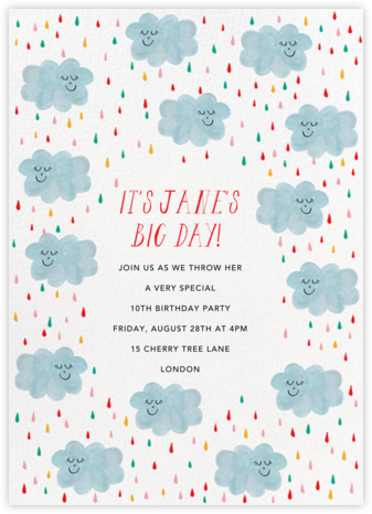 My Perception's Clouded - Mr. Boddington's Studio - Online Kids' Birthday Invitations