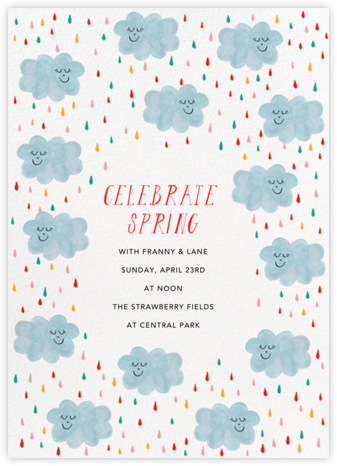 My Perception's Clouded - Mr. Boddington's Studio - Baby shower invitations