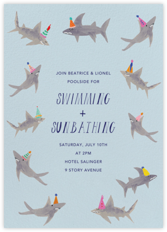 Just a Bite, I'm Stuffed - Mr. Boddington's Studio - Summer Party Invitations