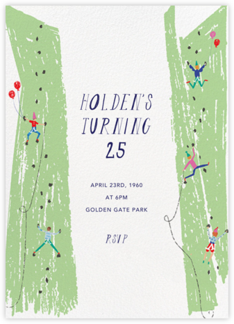 Ladies and Gentlemen Climbers - Mr. Boddington's Studio - Birthday invitations