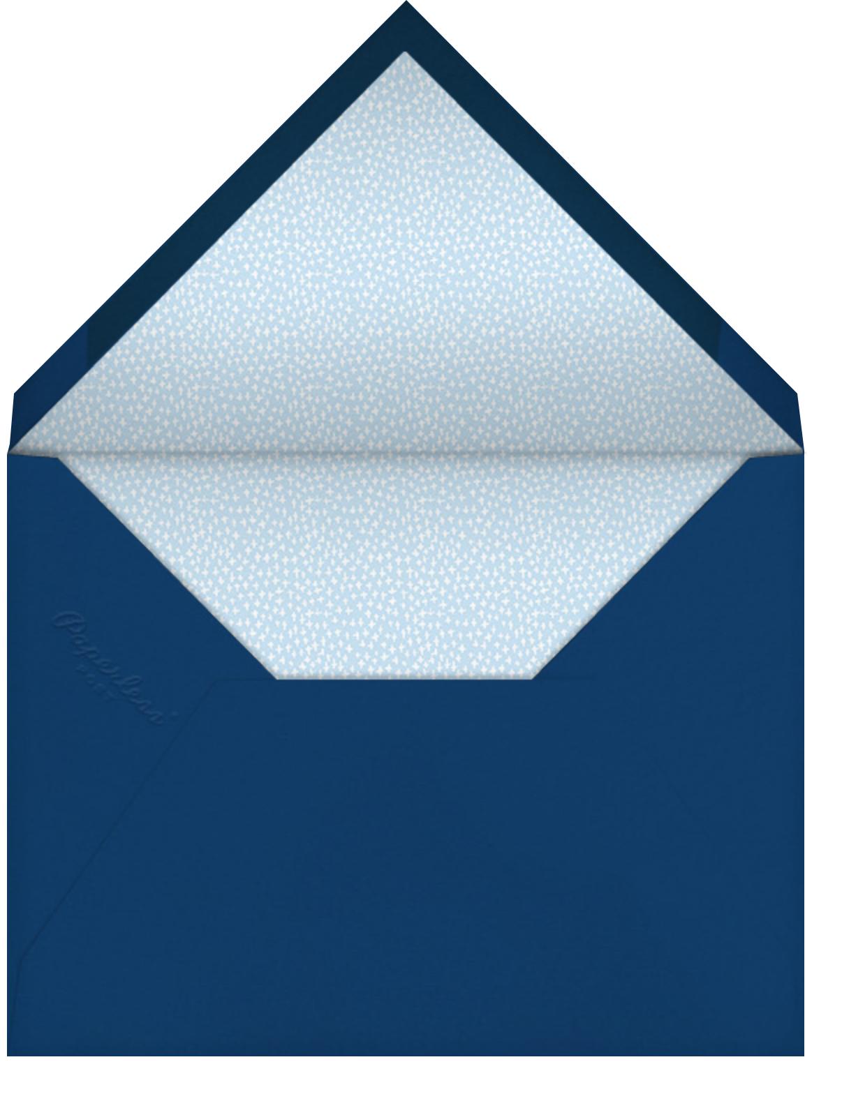 Do a Figure Eight - Mr. Boddington's Studio - Winter entertaining - envelope back