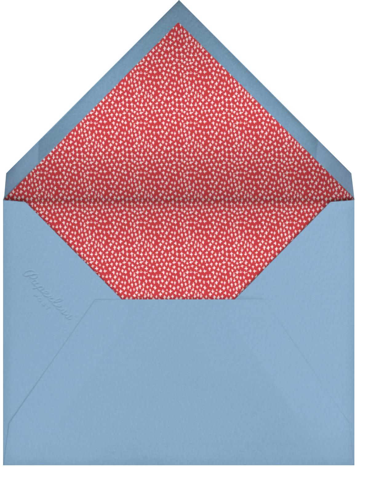 Let's Bounce - Mr. Boddington's Studio - Kids' birthday - envelope back