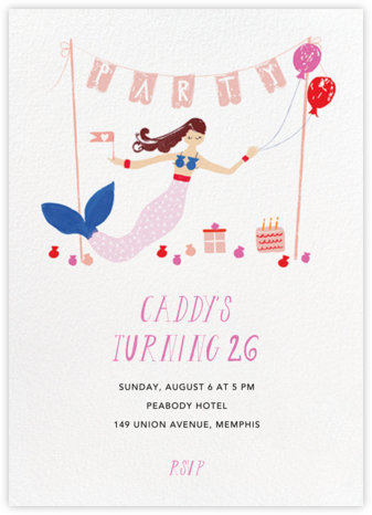 Party's Going Swimmingly - Fair - Mr. Boddington's Studio - Adult Birthday Invitations