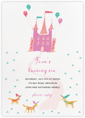 Does the Palace Have Valet - Mr. Boddington's Studio - Unicorn invitations