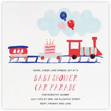 Train Crossing Ahead - Mr. Boddington's Studio - Drive-by Baby Shower Invitations