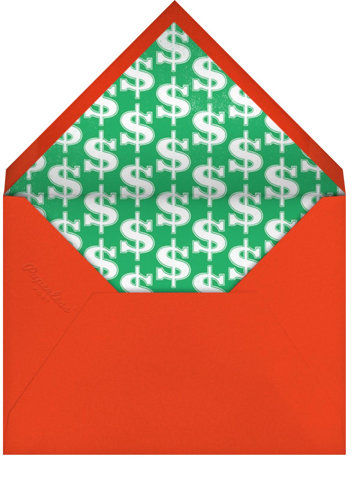 One-Armed Bandit - Paperless Post - Adult birthday - envelope back