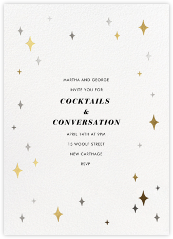 Space Age Stars - Paperless Post - General Entertaining Invitations