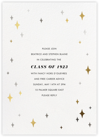 Space Age Stars - Paperless Post - Celebration invitations