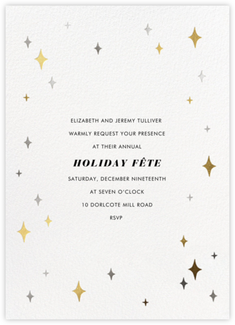 Space Age Stars - Paperless Post - Holiday invitations