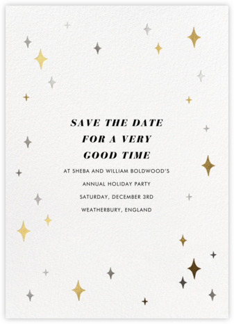 Space Age Stars - Paperless Post - Holiday Save the Dates