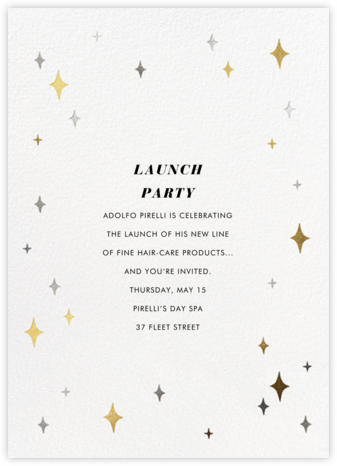 Space Age Stars - Paperless Post - Launch Party Invitations