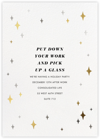 Space Age Stars - Paperless Post - Company holiday party