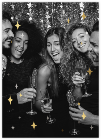 Space Age Stars Photo - Paperless Post - New Year's Eve Invitations