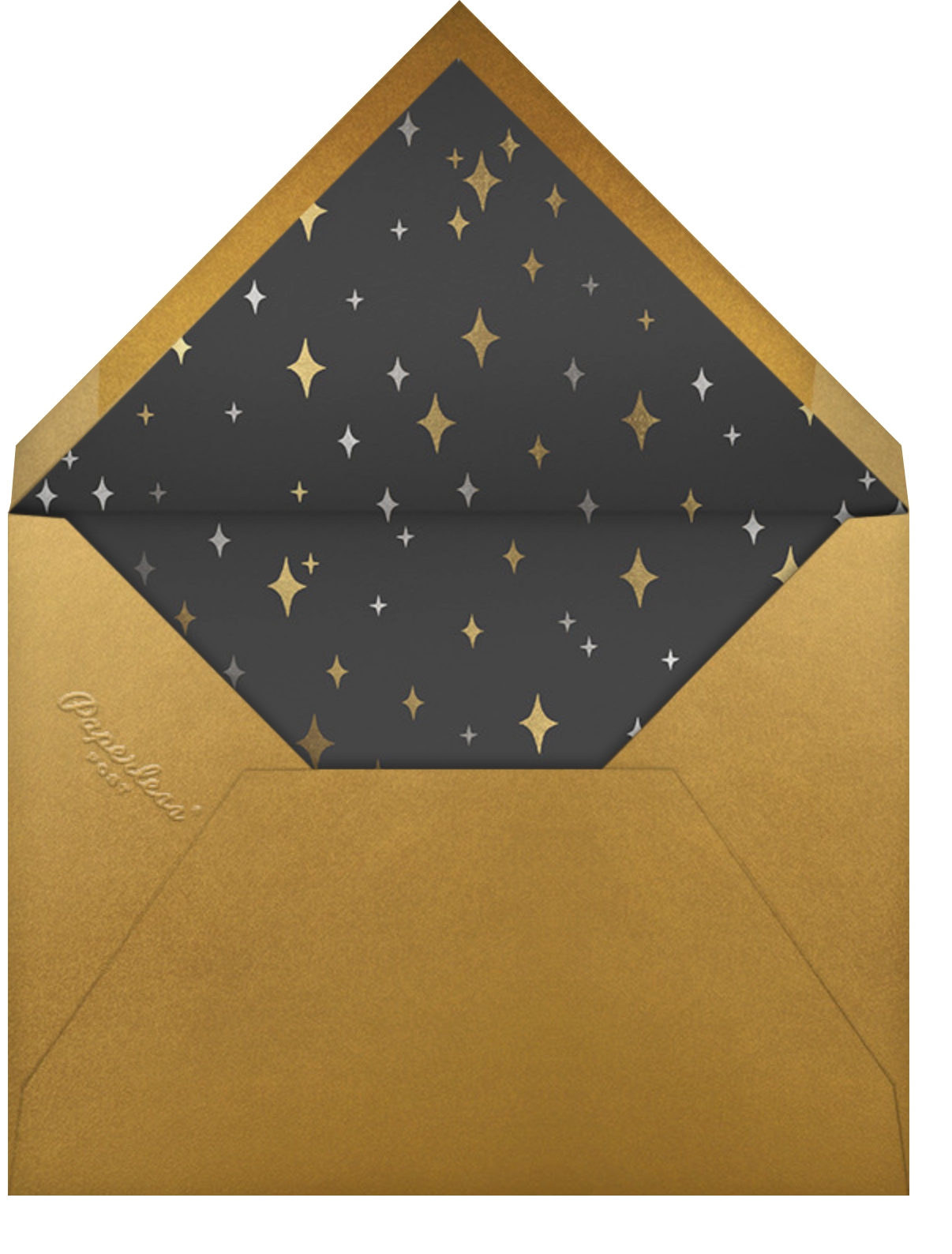 Space Age Stars Photo - Paperless Post - Holiday party - envelope back