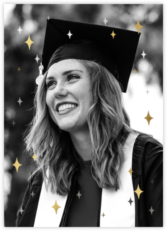 Space Age Stars Photo - Paperless Post - Virtual Graduation Party Invitations