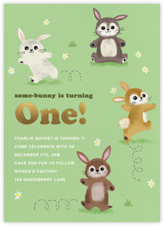 Somebunny Told Me (Birthday) - Paperless Post - First Birthday Invitations