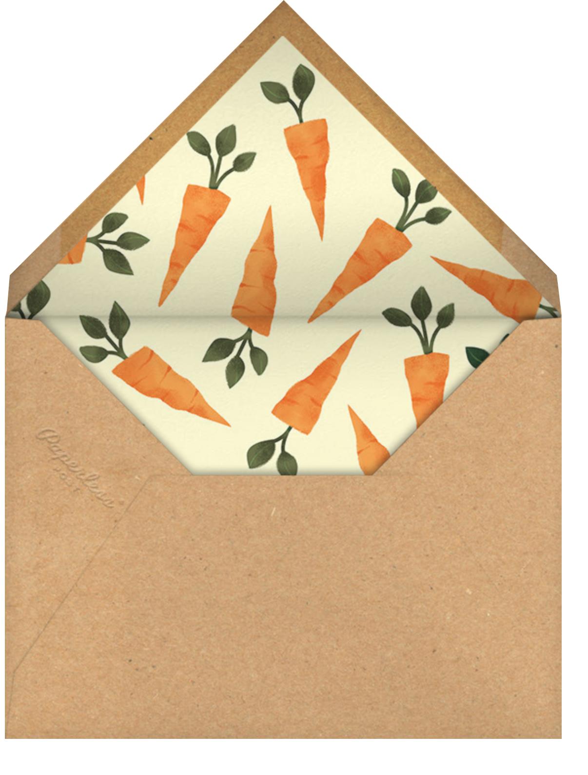 Somebunny Told Me - Paperless Post - Easter - envelope back