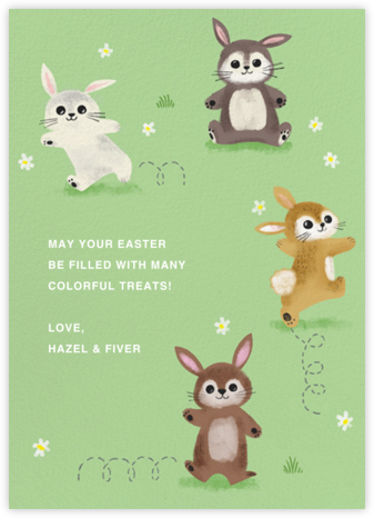 Somebunny Told Me - Paperless Post - Easter invitations