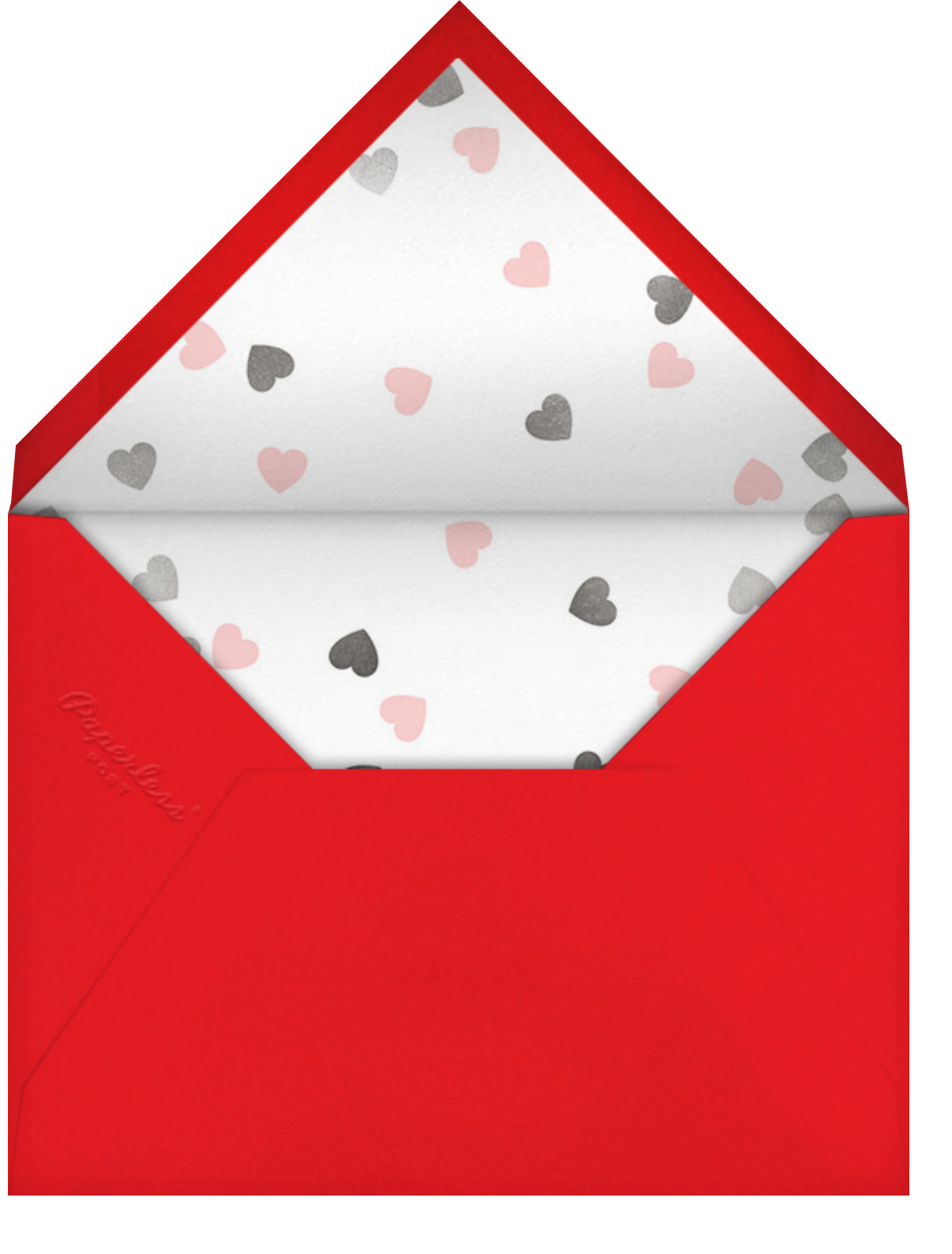 Confetti Hearts - Paperless Post - Valentine's Day - envelope back