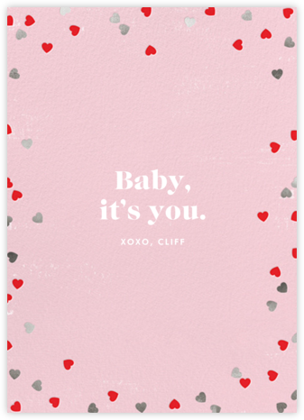 Confetti Hearts - Paperless Post - Valentine's Day Cards